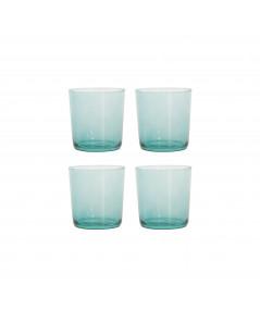 Aida RAW vandglas grøn 4 stk. 0,37L