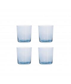 Aida RAW vandglas blå 4 stk. 0,37L