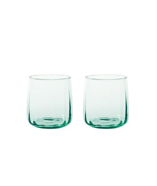 Søholm Sonja vandglas i grøn glas fra Aida